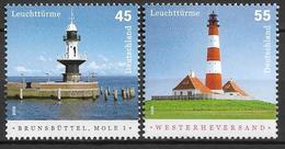 2005 Germany Deutschland  Mi. 2473-4  ** MNH   Leuchttürme : Brunsbüttel, Mole 1  Westerheversand - Unused Stamps
