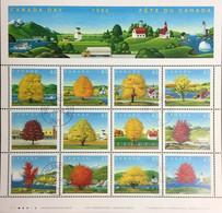 Canada 1994 Canada Day Maple Trees Sheetlet CTO MH - Árboles