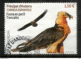 ANDORRA.EUROPA CEPT 2021. Fauna En Perill / Trencalos. Balbuzard.Quebrantahuesos. Oblitéré 1 ère Qualité. AND ESP - Used Stamps