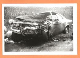 PHOTO ORIGINALE 1976 HOUDAN - ACCIDENT DE VOITURE OPEL MANTA - CRASH CAR - Cars