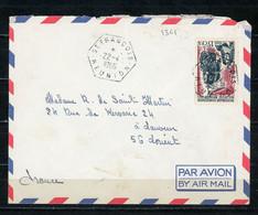 FRANCE SURCHARGÉ CFA - N° Yvert 365 SUR LETTRE Obli. CàD HEXAGONAL De St FRANÇOIS De 1966 - Storia Postale