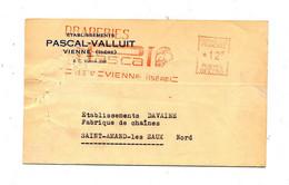 Carte Flamme Ema Vienne Draperie Pascal - Affrancature Meccaniche Rosse (EMA)