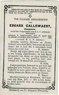 LICHTERVELDE - Eduard CALLEWAERT  +1870 - Devotion Images