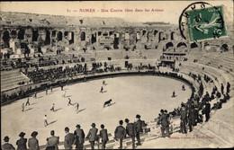 CPA Nîmes Gard, Arena, Stierkampf, Zuschauer - Andere Gemeenten