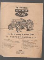 Poissy (78 Yvelines) (matériel Agricole) Publicité TRACTEUR FORD  (PPP29189) - Advertising