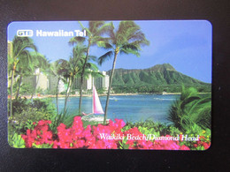 HAWAI       GTE    HAWAIIAN TEL  $10   BEACH AND TREES   TOP LUX - Haiti