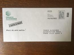 PAP REPONSE YSEULT YZ CATELIN FRANCE ALZHEIMER 212490 - Prêts-à-poster: Réponse