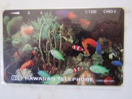 HAWAIIAN GTE    FONDS MARINS MINT - Hawaii