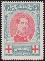 Belgie  .   OBP    .   132      .   **   .      Postfris   .    /  .   Neuf SANS Charniére - 1914-1915 Croix-Rouge