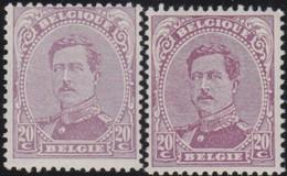 Belgie  .   OBP    . 140  .  2 Nuances    .   **   .      Postfris   .    /  .   Neuf SANS Charniére - 1915-1920 Albert I.