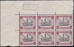 Belgie  .   OBP    . 182Aa Blok 6 Zegels (2 Scans)     Rose Transparaissant  .   **    Neuf SANS Charniére - Unused Stamps