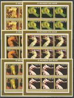KV143 2002 MOZAMBIQUE MARINE LIFE SEA HORSES 6SET MNH - Maritiem Leven