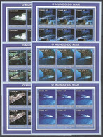 KV139 2002 MOZAMBIQUE FISH & MARINE LIFE 6SET MNH - Maritiem Leven