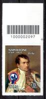 Italia 2021 - Napoleone Bonaparte Codice A Barre MNH ** - Códigos De Barras