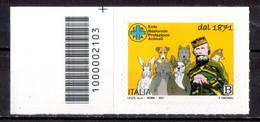 Italia 2021 - ENPA Ente Nazionale Protezione Animali - Giuseppe Garibaldi Codice A Barre MNH ** - Códigos De Barras