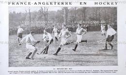 1912 HOCKEY SUR GAZON - FRANCE = ANGLETERRE - PAVILLON DES PRINCES À BOULOGNE - Other