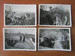BERNEVILLE AVESNES LE COMTE ARRAS  WW2 GUERRE 39 45 SORTIE DU  BOURG CONSTRUCTION  FORTIFICATION ABRI SOLDATS ALLEMANDS - Autres Communes