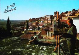 ►  CPSM Israel   Safad  Artiste Peintre Chevalet  Modèle - Craft