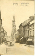 """CP De Sint TRUIDEN ( Saint Trond ) """" Brusthemstraat / Rue De Liège  """" Cachet Geprüft Au Verso - Sint-Truiden"""