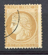 FR - Yv. N° 59  (o)  10c Bistre Cote 8 Euro Euro  BE   2 Scans - 1871-1875 Ceres