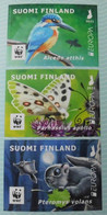 Finland Suomi 2021 - WWF Endangered Animals - EUROPA CEPT Common Kingfisher - Butterfly - Siberian Flying Squirrel - Ungebraucht