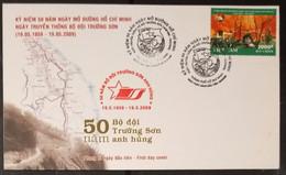 FDC Vietnam Viet Nam Cover 2009 : 50th Anniversary Of Truong Son Soldier (Ms983) - Vietnam