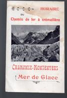 Chamonix (74 HauteSavoie) Horaire 1914 Du Chemin De Fer à  Cremaillère  (PPP29191) - Europa