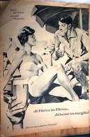 PUBBLICITA' ADVERTISING BIRRA FOGLIO PUBBLICITARIO RITAGLIO DA GIORNALE DEL 1961 - Posters