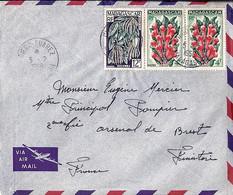 MADAGASCAR N°333x2/334 SUR LETTRE DE DIEGO SUAREZ/1958 POUR LA FRANCE - Other