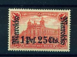 GERMAN PO's IN MOROCCO  -  1911-18 Deutsches Reich Definitive 1p25c On 1m Hinged Mint - Oficina: Marruecos