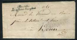 Griffe Du Ministère Des Affaires Etrangères Sur Lettre Avec Texte En 1826 - M20 - 1801-1848: Precursors XIX