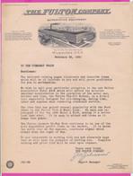 262350 / 1930 The Fulton Company Manufactures Automotive Equipment - Milwaukee USA United States USA Etats-Unis - United States