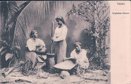 Ceylon, Singhalese Women, Colombo - Paris, Timbres Taxe Français (21.10.1905) - Sri Lanka (Ceylon)