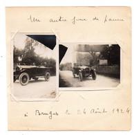 Bruges (64). Automobile En Panne (?) . 2 Photos 1924. - Andere Gemeenten