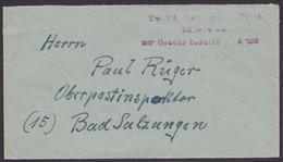 """""""Gebühr Bezahlt"""", L3 Des Zweigpostamtes """"Reutlingen"""", 30.11.45 - American/British Zone"""