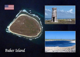 Baker Island Satellite View New Postcard - Autres