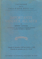 CATALOGO CASA D'ASTE PITTI FIRENZE 1982 ARREDI ANTICHI - Collectors Manuals