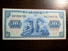 1949 Germany 10 German Mark Banknote Bank Deutscher Lander - 10 Deutsche Mark