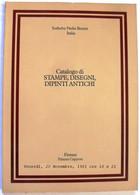 SOTHEBY PARKE BERNET - CATALOGO STAMPE,DISEGNI,DIPINTI ANTICHI - FIRENZE 1981 - Collectors Manuals