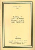 SOTHEBY PARKE BERNET - CATALOGO OGGETTI D'ARTE - MOBILI - TAPPETI - FIRENZE 1981 - Collectors Manuals