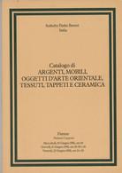 SOTHEBY PARKE BERNET CATALOGO ARGENTI TESSUTI CERAMICA TAPPETI - FIRENZE 1981 - Collectors Manuals