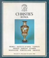 CATALOGO CHRISTIE'S ROMA 1984 MOBILI - TAPPETI - DIPINTI - PORCELLANE - ARGENTI - Collectors Manuals