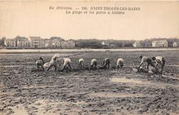 17-ILE-D'OLERON-SAINT-TROJAN-LES-BAINS- LA PLAGE ET LES PARCS A HUITRES - Ile D'Oléron