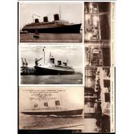 Lot De 17 Cartes Postales Différentes Du Bateau LE NORMANDIE - Steamers
