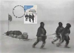 Australian Antarctic Territory  2001 Australians In Antarctic, South Magnetic Pole,maximum Card - Tarjetas – Máxima