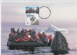 Australian Antarctic Territory  2001 Australians In Antarctic, Tourism,maximum Card - Tarjetas – Máxima