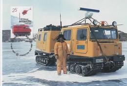 Australian Antarctic Territory  2001 Australians In Antarctic, Transport,maximum Card - Tarjetas – Máxima