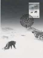 Australian Antarctic Territory  2013 Antarctic Expedition ,in The Blizzard Wind,maximum Card - Tarjetas – Máxima