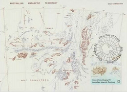 Australian Antarctic Territory  2019 Division Of National Mapping,1971,maximum Card - Tarjetas – Máxima