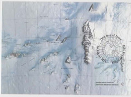 Australian Antarctic Territory  2019 Division Of National Mapping,1993,maximum Card - Tarjetas – Máxima